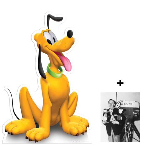 FAN PACK - Pluto (Disney) LIFESIZE CARDBOARD CUTOUT (STANDEE / STANDUP) - INCLUDES 8X10 (25X20CM) STAR PHOTO - FAN PACK #294