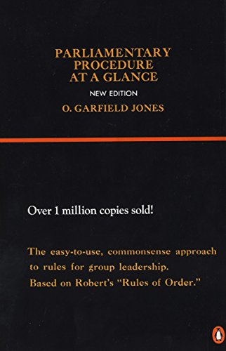 - Parliamentary Procedure at a Glance: New Edition (Reference)