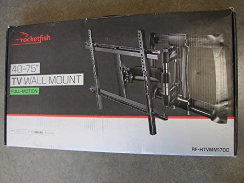 Rocketfish - Full-Motion TV Wall Mount for Most 40'' - 75'' TVs (RF-HTVMM170C) Black - New, Non-Retail Packaging by Rocketfish (Image #1)