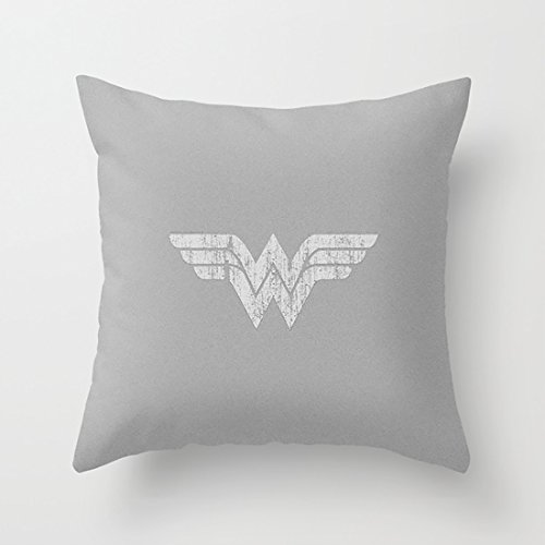 CqxinFuxi 100% Cotton Pillowcase Cushion Cover wonder of woman logo Art Home Decor Sofa Throw Pillow Cover - Double-sided Color Printing ()