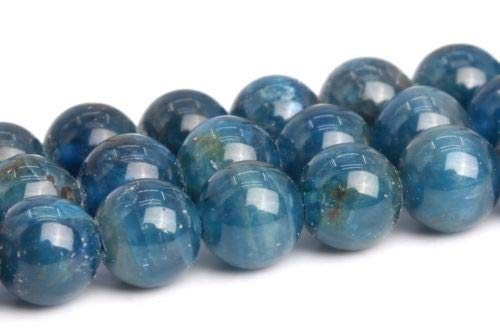 5mm Genuine Natural Blue Apatite Grade Around Gemstone Loose Beads 15'' Crafting Key Chain Bracelet Necklace Jewelry Accessories Pendants ()