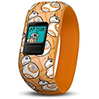 Garmin Vivofit Jr. 2 Stretchy BB-8 Activity Tracker (Orange)