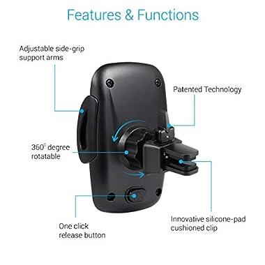 Portronics CLAMP X POR-926 Car-Vent Mobile Holder (Black) 10