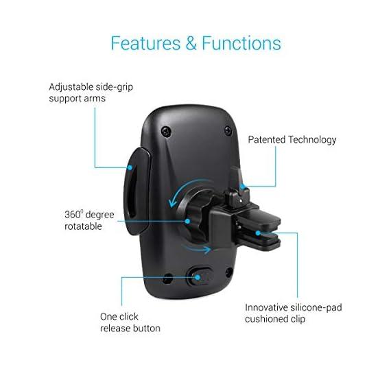 Portronics CLAMP X POR-926 Car-Vent Mobile Holder (Black) 3