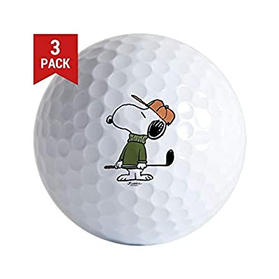 CafePress Snoopy Golf Ball Golf Balls (3-Pack), Unique Printed Golf Balls