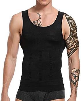 Lardrok Men's Body Slimming Shapewear Shirt