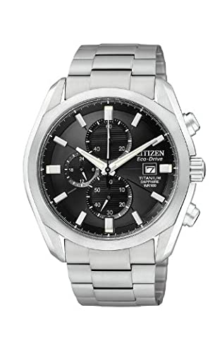 Citizen Men's CA0020-56E Eco-Drive Titanium Watch - Citizen Eco Drive Mens Chronograph