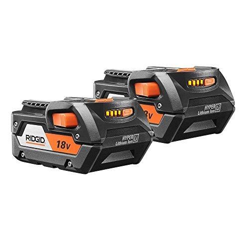 RIDGID AC840087P 18-Volt 4.0Ah Lithium-Ion Battery (2-Pack of R840087 Battery) (Ridgid Battery Pack 18v)