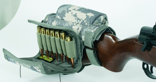 VooDoo Tactical 20-9421075000 Buttstock Cheek Piece with Ammo Carrier, Army - Digital Stock