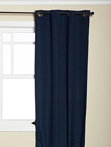 Eclipse Microfiber Grommet Blackout Window Panel(Single), 42-Inch By 63-Inch, Navy