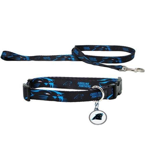 Carolina Panthers NFL Dog Collar & Leash Set