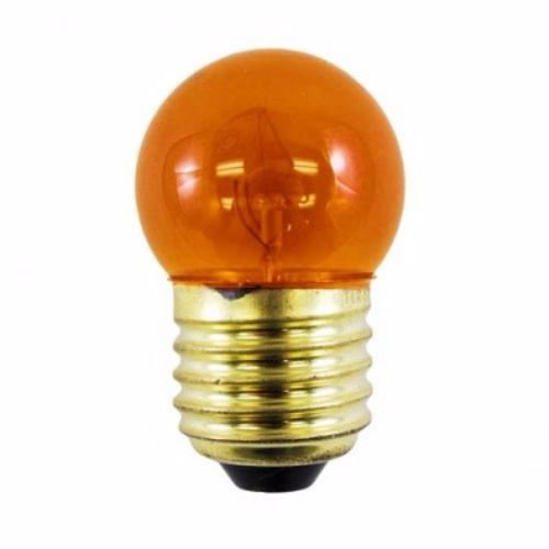 130 Lamp (Norman Lamps 7.5S11-130V-TAx10  Transparent Amber Light Bulb,  7.5W, 130V (Pack of 10))