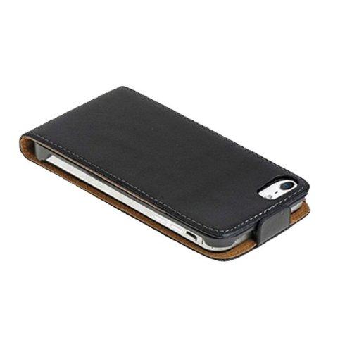 Tasche für Apple iPhone 5C Hülle Schutz Cover Flip Case Etui schwarz mit Pen