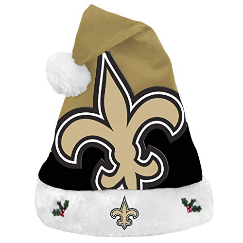 FOCO NFL New Orleans Saints 2018 Basic Santa Hat, Team Color, One Size