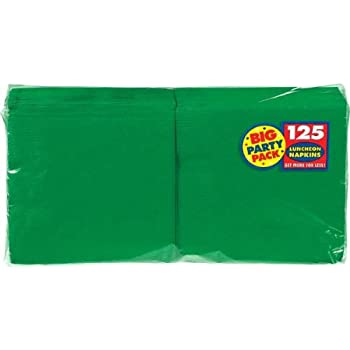 """Amscan 610013.03/ACL Party Supplies, Green, 6.5"""" x 6.5"""""""
