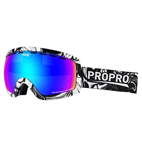 SE7VEN Lunettes Myopie Compatible Lunettes De Ski,Lentille Double Couche Anti-buée Unisexe Plein Air Escalade Résistance Au Vent Lunettes D'hiver A