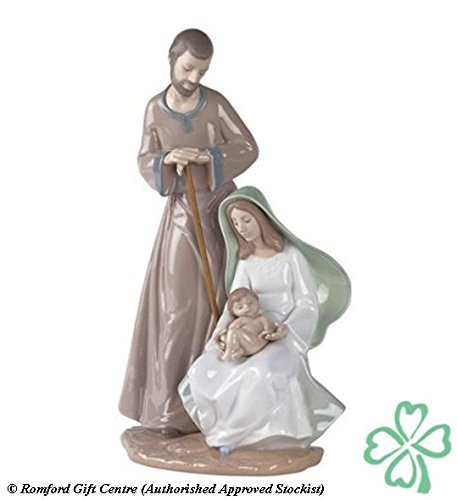 Christmas Lladro Figurines (Nao by Lladro Collectible Porcelain Figurine: THE HOLY FAMILY - 14 3/4
