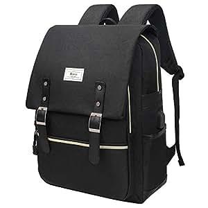 Unisex College Bag Fits up to 15.6'' Laptop USB Charging Port Waterproof Casual Rucksack School Backpack Daypacks