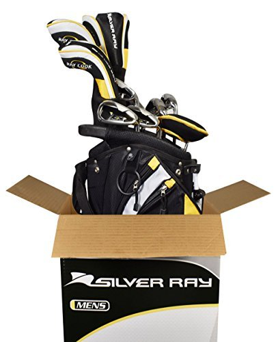 Ray Cook Golf Men's Graph/Steel +1 PVD Finish Silver Ray Complete Set with Bag [並行輸入品] B06ZY51QNH