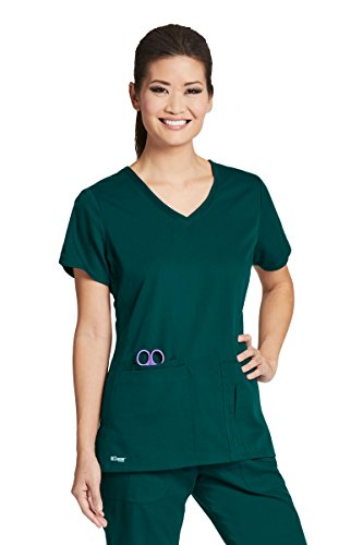Grey's Anatomy Active 41423 Top Hunter Green L by Barco