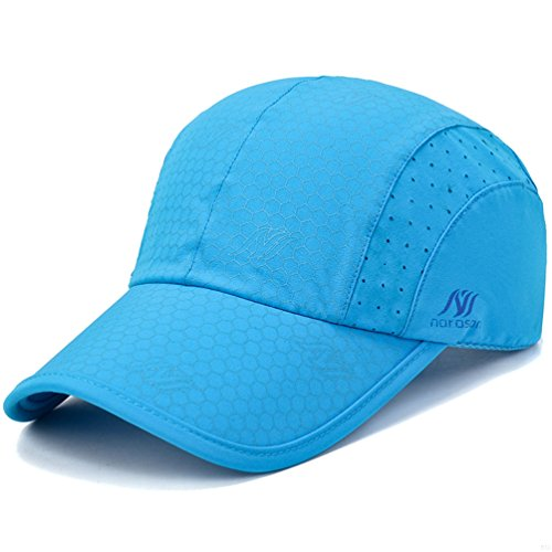GADIEMENSS Sport Cap,Soft Brim Lightweight Waterproof Running Hat Breathable Baseball Cap Quick Dry Sport Caps Cooling Portable Sun Hats for Men and Woman Performance Workouts and Outdoor Activities Sky Blue, 55-62cm