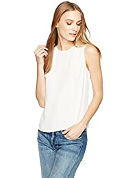 Women's Silky Crepe Crossover Back Shell Top