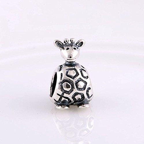 Giraffe Animal Charm 925 Sterling Silver Beads fit Fashion Charms Bracelets (Giraffe) (Fashion Giraffe)
