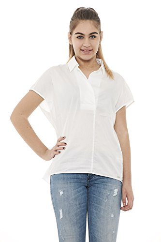 Bianco Over Li02 Wwcam0656 Donna Shirt m Linen Camicia Woolrich q8H5n