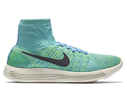 Nike Womens Lunarepic Flyknit Scarpe Da Corsa Università Blu / Nero Verde Tensione