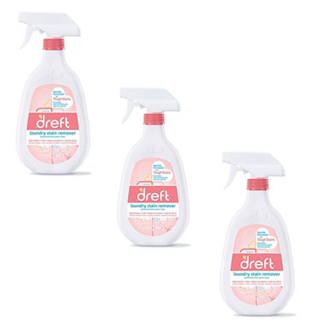3 Pack of Dreft 22 oz. Trigger Spray Laundry Stain Remover
