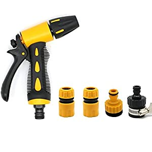 Nizzco Garden Hose Nozzle & 5 in 1 Sprayer Nozzle,Flow-Control Water Sprayer
