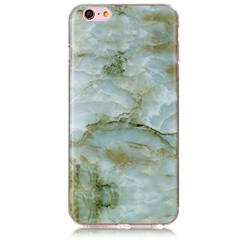 Price comparison product image UCLL iphone 6 plus Case , iphone 6s plus Case Marble Design for Iphone6/6s plus Slim Soft TPU Bumper Protective Durable Shockproof Case For Iphone with a Screen Protector (green)