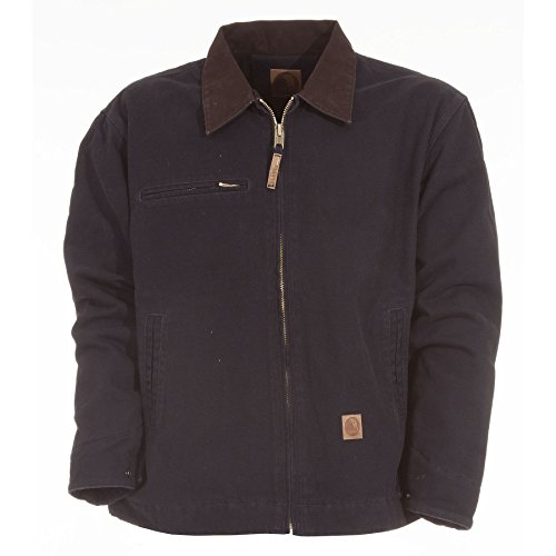 Berne Men's Original Washed Gasoline Jacket Midnight ()