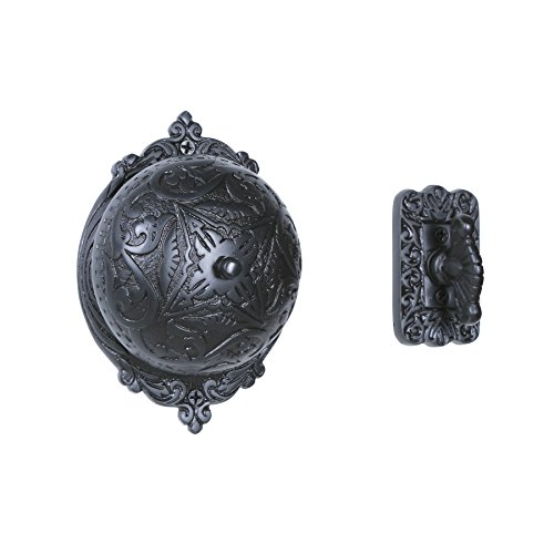 A29 Twist Hand-Turn Solid Brass Wireless Mechanical Doorbell Chime in Oil Rubbed Bronze Finish Vintage Decorative Antique Victorian Door Bell with Easy (Victorian Twist Doorbell)