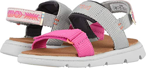 TOMS Kids Baby Girl's Ray (Toddler/Little Kid) Drizzle Grey Global Webbing 8 M US -