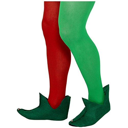 [Elf Boots Adult or Teen Green Medieval Jester Shoes Christmas Costume Accessory] (Hot Costumes For Teens)