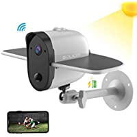Outdoor Solar Battery Security Camera, Soliom S60 1080p...