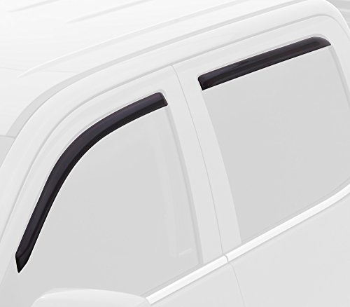 (Auto Ventshade 194373 in-Channel Ventvisor Side Window Deflector, 4-Piece Set for 2012-2018 Ford Focus)