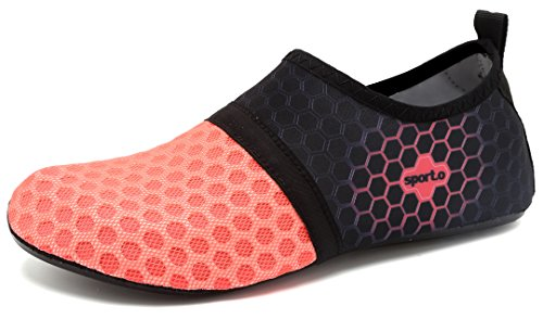 Unisex Sportive Water adituob Donne Aqua per Beach rosa Swim Yoga per Surf Uomini Calzini Shoes L wBqqRTd5P