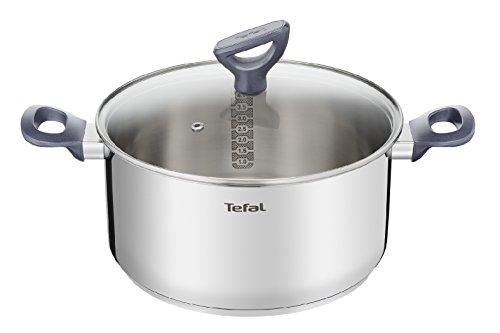 Tefal Daily Cook G71244 Kochtopf mit Deckel 20 cm, Edelstahl