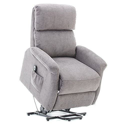 BONZY Lift Chair Power Lift Chair with Remote Control for Gentle Motion – Smoke Gray