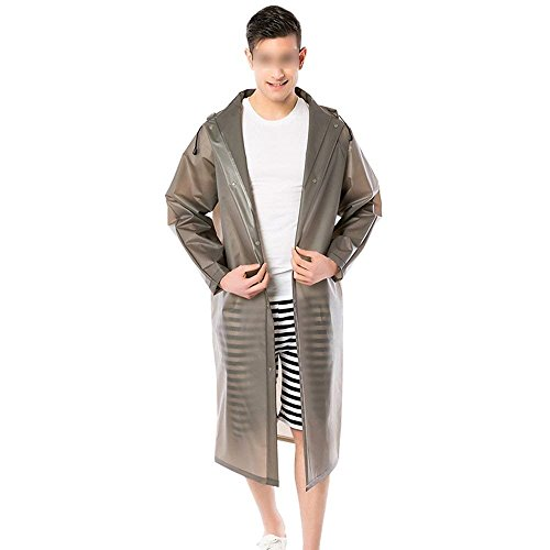 Chubasquero Opaco Poncho Moda Dama Impermeable Grau Colores Fiesta Elegante Abrigos Lluvia Encapuchado Hombre Sólidos Casual qwH4fSw