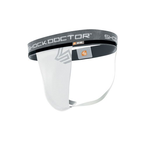 Shock Doctor Men's Supporter Without Pocket, White, ()