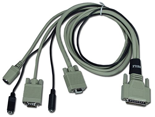 QVS CWS-03 3 ft. PS & 2 or PC & at Keyboard44; Video44; Mouse & Audio DB25 KVM Combo - Cables Kvm Qvs
