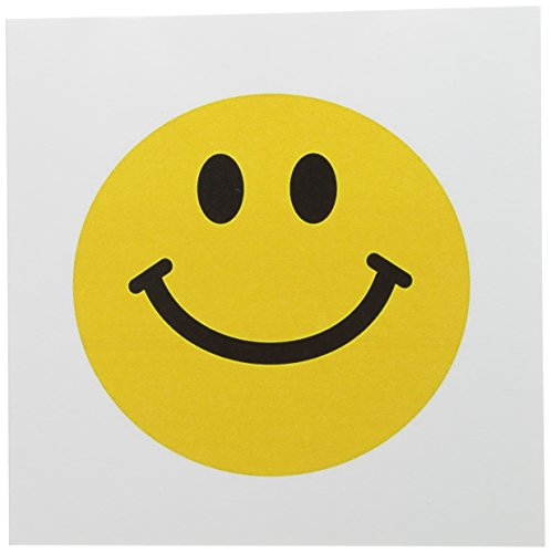 3dRose Yellow Smiley Face - Traditional Happy Smile Greeting Cards, 6