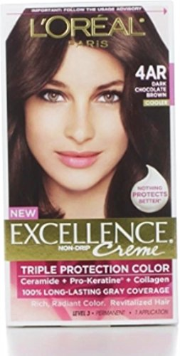 L'Oreal Paris Excellence Creme Triple Protection Color 4AR Dark Chocolate Brown/Cooler