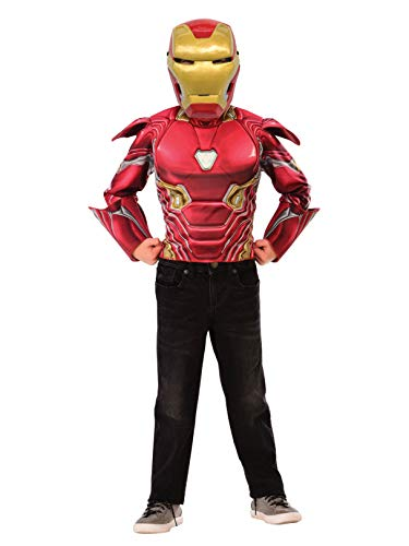 Imagine by Rubie's Boys Child's Deluxe Iron Man Flip N' Reveal Dress up Set Costume, As Shown, -
