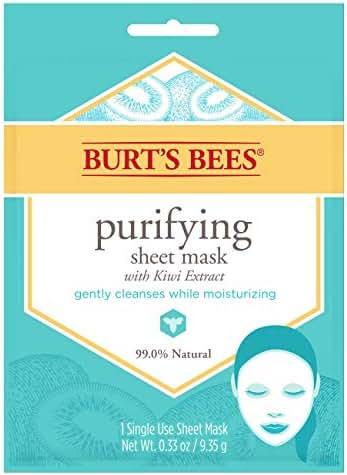 Facial Treatments: Burt's Bees Purifying Sheet Mask