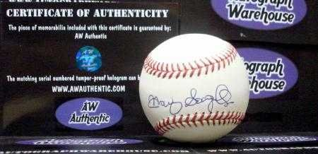 Manny Sanguillen autographed baseball (OMLB Pittsburgh Pirates World Series Champion) AW Certificate of Authenticity ()