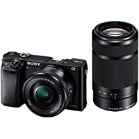 Deals on Sony Alpha A6000 Camera w/16-50mm & 55-210mm Lens